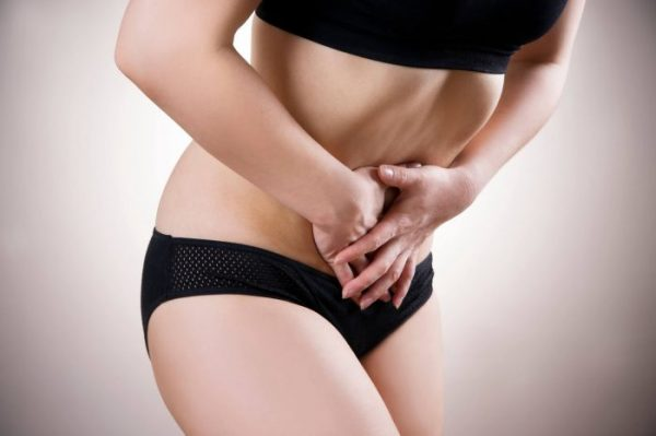 Endometriosis can cause pain in the pelvis and stomach.